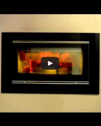 Видео горения камина LOTUS