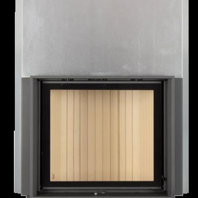 Камин Компакт с прямым стеклом и с вертикальным открытием дверец 51/55