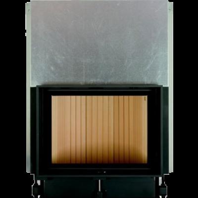 Камин Компакт с прямым стеклом и с вертикальным открытием дверец 51/67
