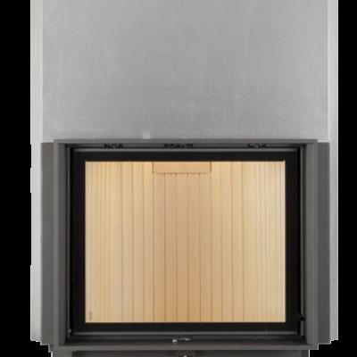 Камин Компакт с прямым стеклом и с вертикальным открытием дверец 57/55