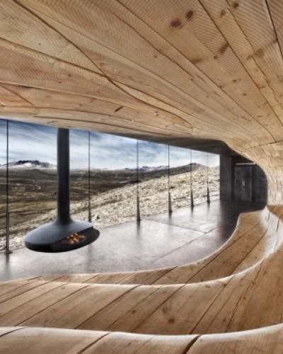 Наблюдательный павильон в Норвегии